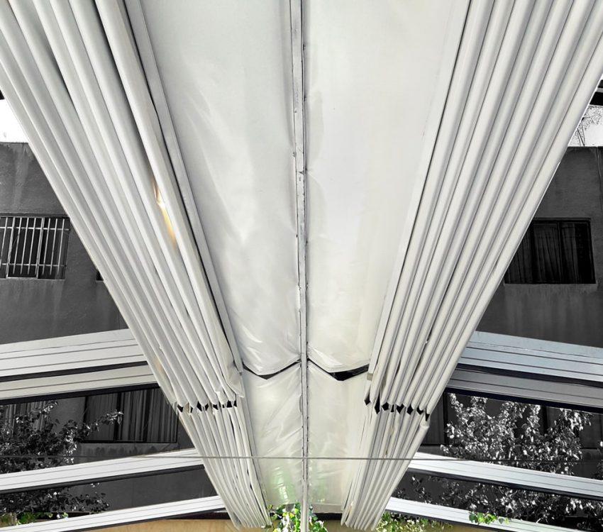 پروژه اجرای سقف جمع شونده پارچه ای دفتر شرکت هوایار