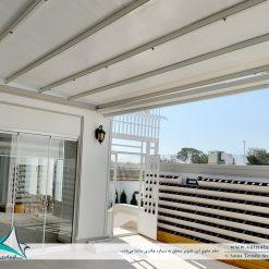 اجرای سقف متحرک چادری ویلا