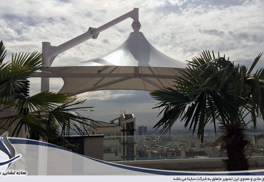 سازه چادری روف گاردن در قیطریه
