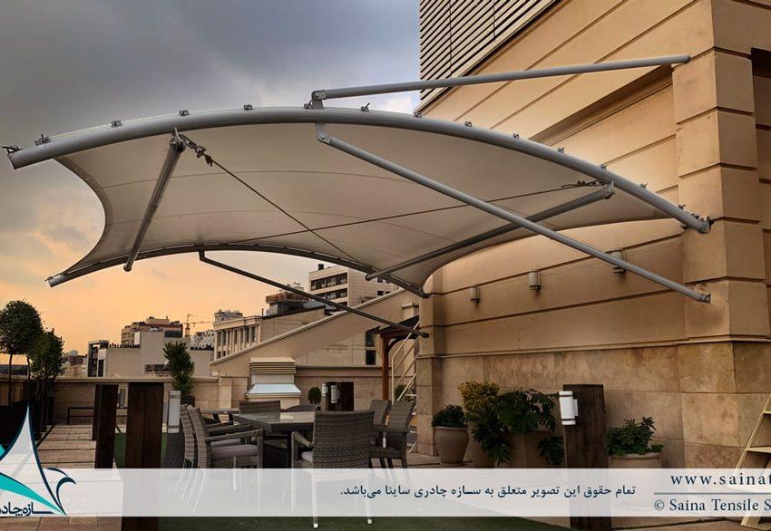 سایبان روفگاردن برج مسکونی ولنجک