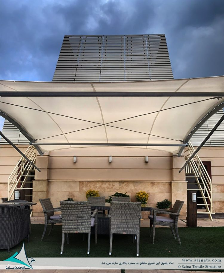 پروژه اجرای سایبان روفگاردن برج مسکونی در ولنجک