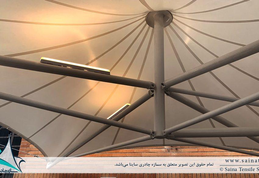 سایبان پارچه ای روفگاردن در محمودیه