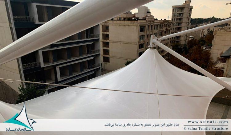 سایبان پارچه ای روفگاردن محمودیه