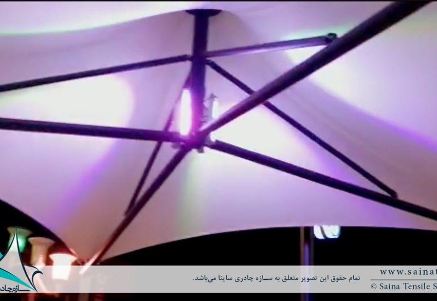 طراحی و اجرای سایبان چادری طرح سانشید در شوشتر