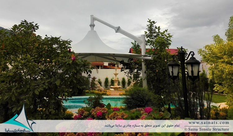 اجرای سایبان چادری استخر ویلا