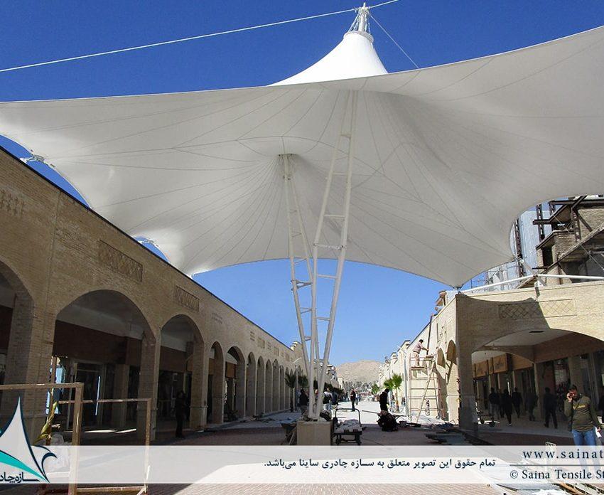 طراحی و اجرای سایبان چادری تکیه بلادیان در گچساران