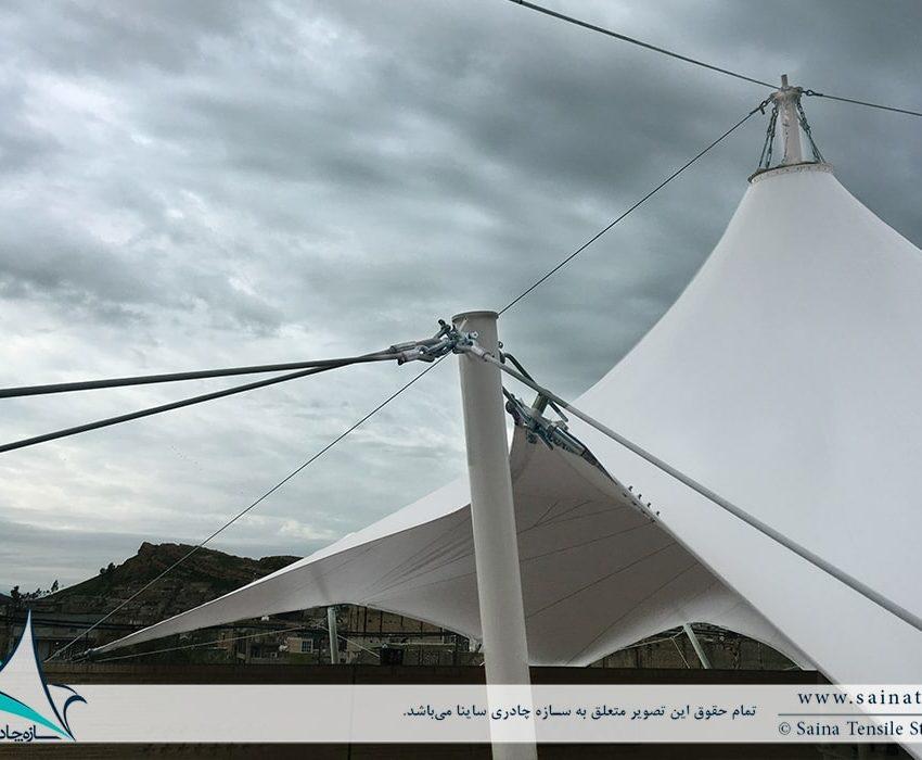 پروژه اجرای سایبان چادری تکیه بلادیان در گچساران