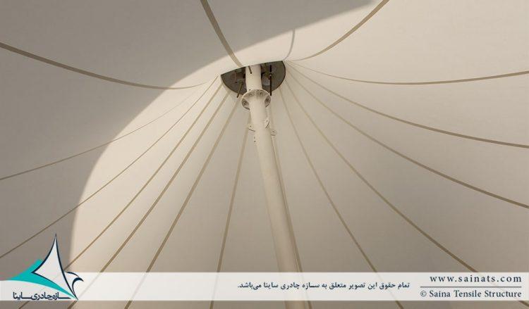 پروژه طراحی و اجرای سقف پارچه ای به فرم خیمه دوقله مجموعه لمزی