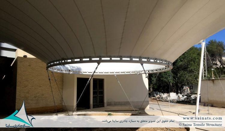 طراحی و اجرای سازه پارچه ای ورودی دانشکده دانشگاه بوشهر