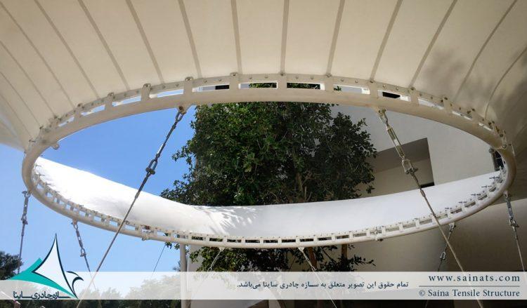 سازه پارچه ای ورودی دانشکده در دانشگاه بوشهر