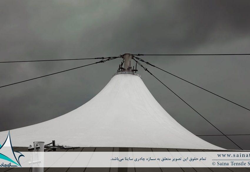 پروژه سازه پارچه ای به فرم خیمه دوقله در بازار روز بابل