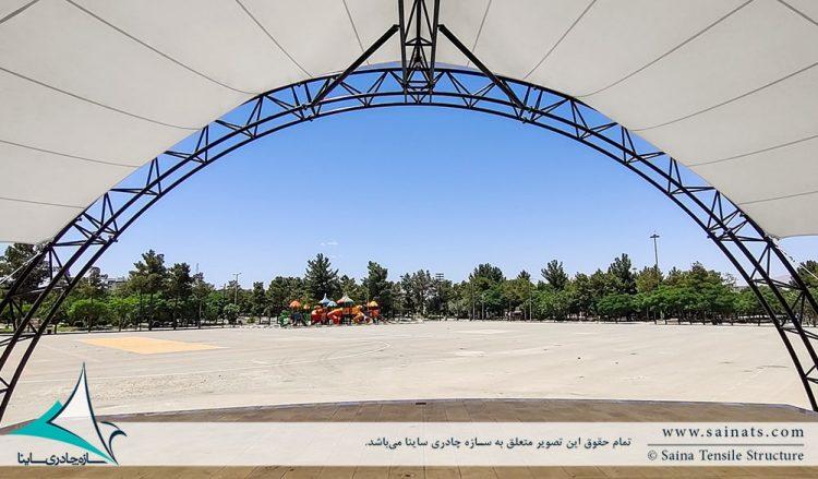 اجرای سایبان جایگاه نمایش در کرمان