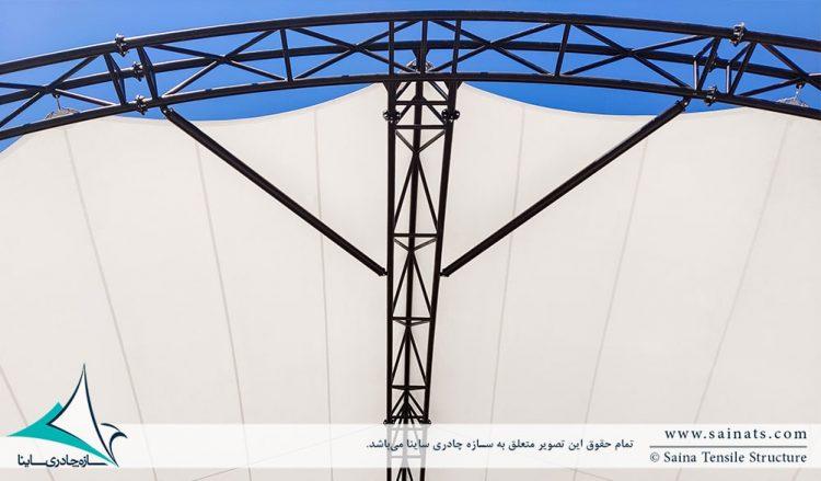 پروژه سازه پارچه ای استیج پارک مادر در کرمان