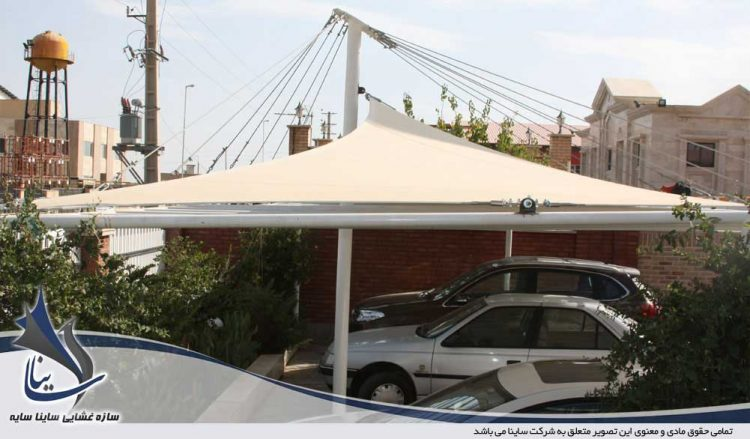 پروژه سایبان پارچه ای پارکینگ خودرو در شهرک صنعتی پرند