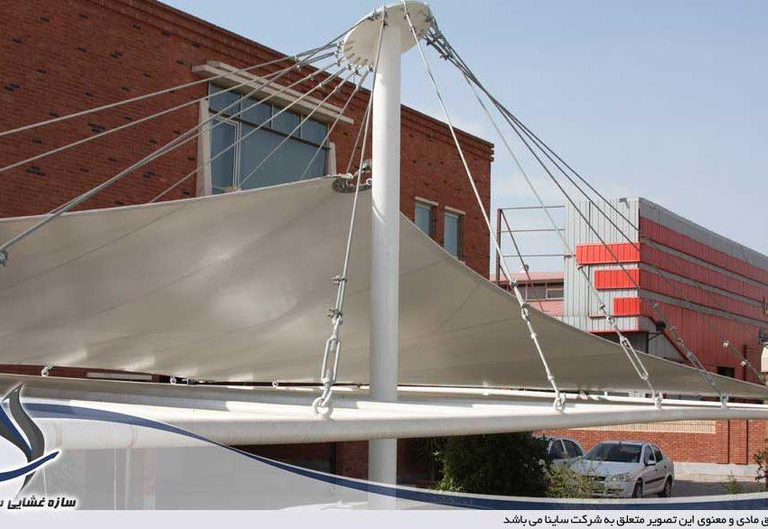 اجرای پروژه سایبان پارچه ای پارکینگ خودرو در شهرک صنعتی پرند