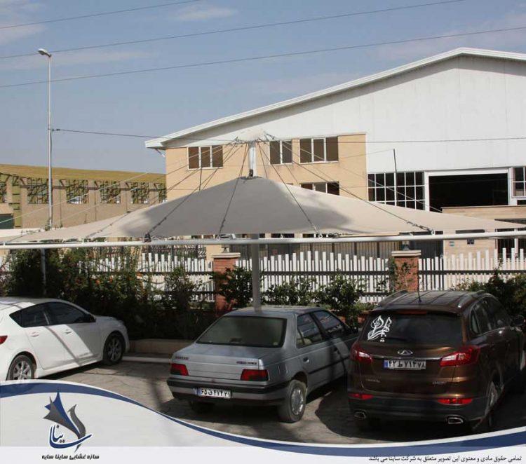 سایبان پارچه ای پارکینگ خودرو در شهرک صنعتی پرند