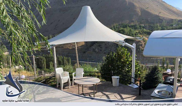 طراحی و اجرای آلاچیق چادری ویلا در فشم