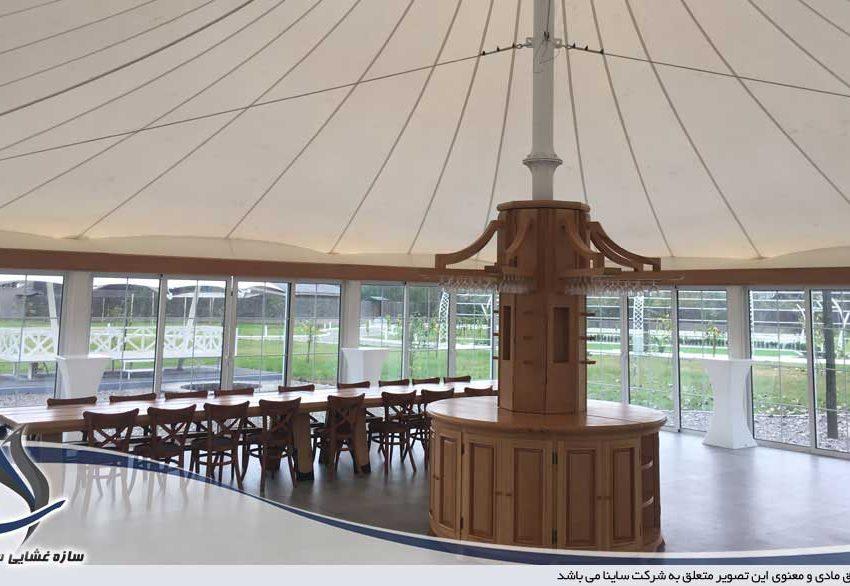 طراحی و اجرای سقف چادری ویلا در رشت