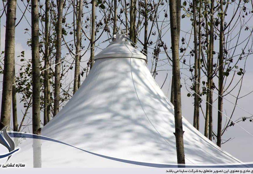 اجرای سقف چادری ویلا در رشت