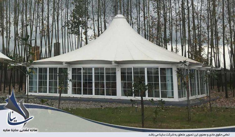 سقف چادری ویلا رشت