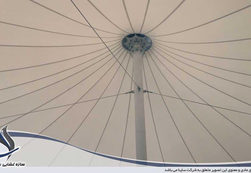 طراحی و اجرای سازه چادری سقف رستوران vip