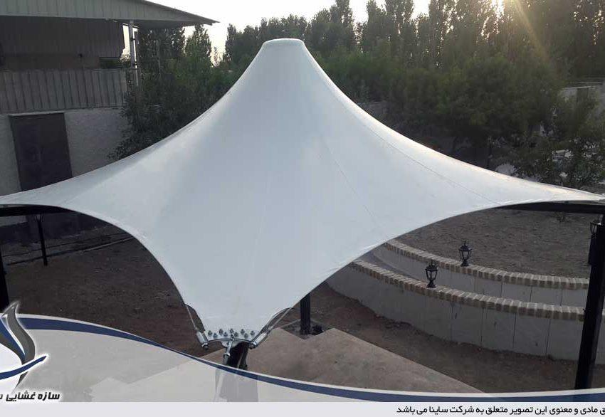 آلاچیق چادری فضای سبز در باغ ویلا تهران دشت