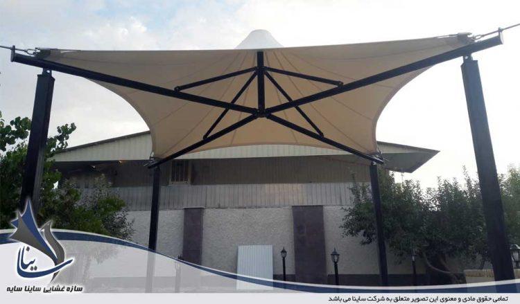 طراحی و اجرای آلاچیق چادری فضای سبز در باغ ویلا تهران دشت