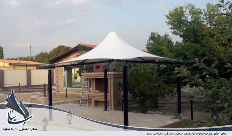 پروژه اجرای آلاچیق چادری فضای سبز در باغ ویلا تهران دشت