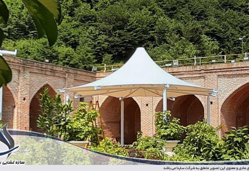 اجرای الاچیق رستوران چادری کاروانسرای شاه عباسی رشت
