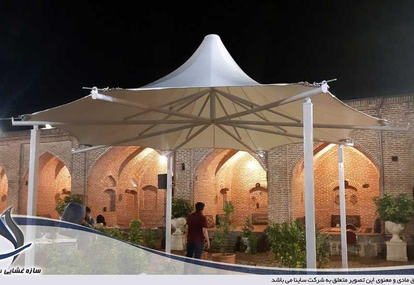 الاچیق رستوران چادری کاروانسرای شاه عباسی رشت