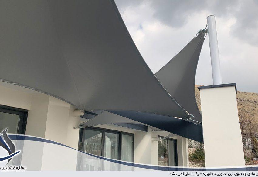 اجرای سازه چادری در شهرک باستی هیلز لواسان