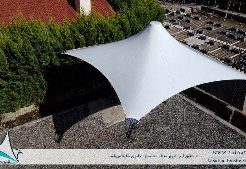 اجرای سایبان تراس ویلا خزرشهر